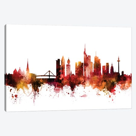 Frankfurt, Germany Skyline Canvas Print #MTO1351} by Michael Tompsett Canvas Artwork