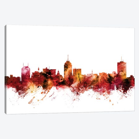 Fresno, California Skyline Canvas Print #MTO1352} by Michael Tompsett Canvas Art