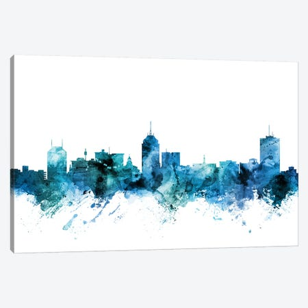 Fresno, California Skyline Canvas Print #MTO1353} by Michael Tompsett Canvas Art
