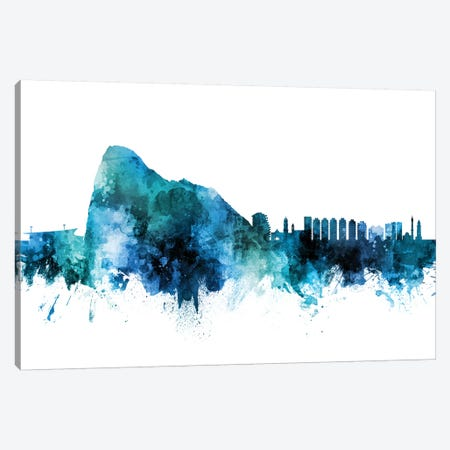 Gibraltar Skyline Canvas Print #MTO1360} by Michael Tompsett Art Print