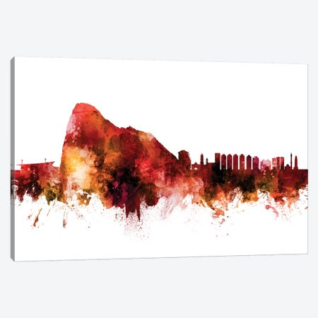 Gibraltar Skyline Canvas Print #MTO1361} by Michael Tompsett Canvas Print