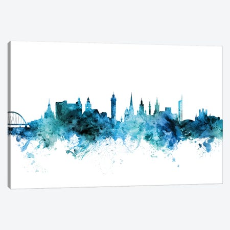 Glasgow, Scotland Skyline Canvas Print #MTO1362} by Michael Tompsett Art Print
