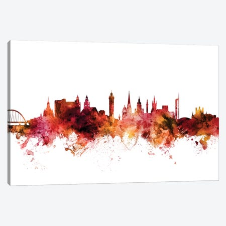 Glasgow, Scotland Skyline Canvas Print #MTO1363} by Michael Tompsett Art Print