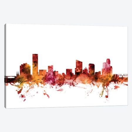 Grand Rapids, Michigan Skyline Canvas Print #MTO1368} by Michael Tompsett Canvas Print