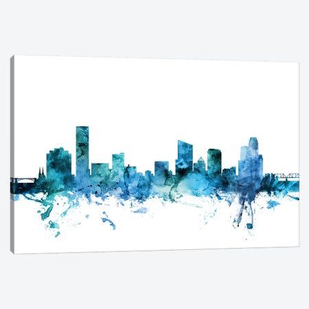 Grand Rapids, Michigan Skyline Canvas Print #MTO1369} by Michael Tompsett Canvas Art Print