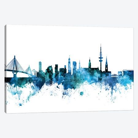 Hamburg, Germany Skyline Canvas Print #MTO1374} by Michael Tompsett Art Print