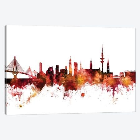 Hamburg, Germany Skyline Canvas Print #MTO1375} by Michael Tompsett Canvas Art Print