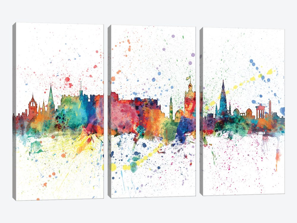 Edinburgh, Scotland, United Kingdom 3-piece Canvas Art