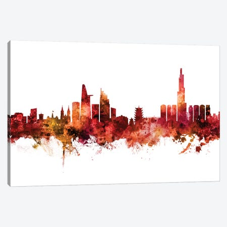 Ho Chi Minh City, Vietnam Skyline Canvas Print #MTO1383} by Michael Tompsett Art Print