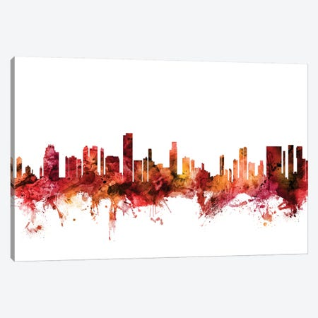 Honolulu, Hawaii Skyline Canvas Print #MTO1386} by Michael Tompsett Canvas Artwork