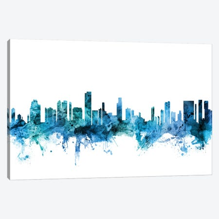 Honolulu, Hawaii Skyline Canvas Print #MTO1387} by Michael Tompsett Canvas Artwork