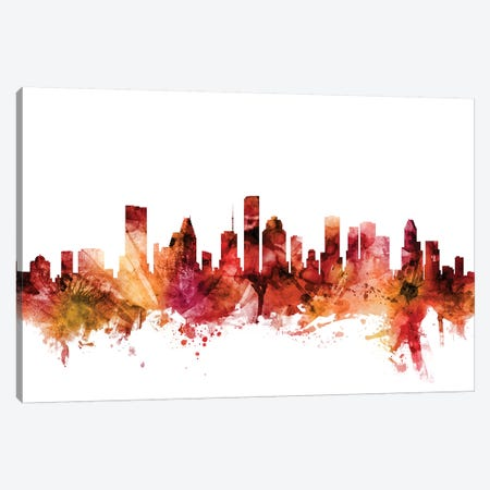 Houston, Texas Skyline Canvas Print #MTO1388} by Michael Tompsett Canvas Art Print