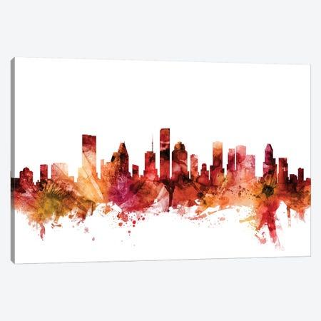 Houston, Texas Skyline Canvas Print #MTO1388} by Michael Tompsett Canvas Art Print