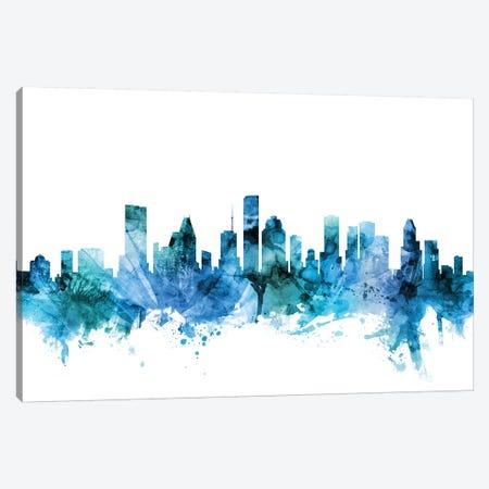 Houston, Texas Skyline Canvas Print #MTO1389} by Michael Tompsett Canvas Art Print