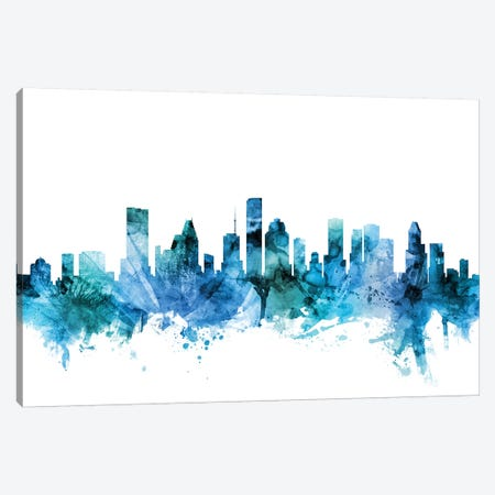 Houston, Texas Skyline Canvas Print #MTO1389} by Michael Tompsett Canvas Art Print
