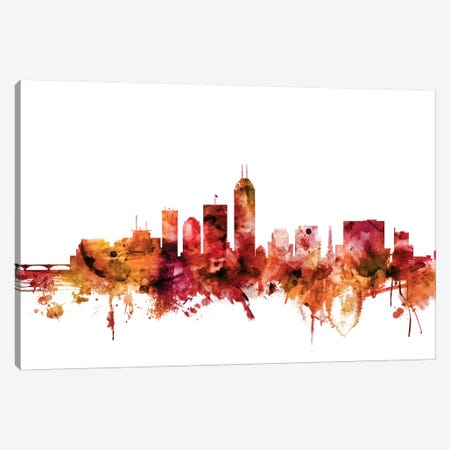 Indianapolis, Indiana Skyline 3-Piece Canvas #MTO1390} by Michael Tompsett Canvas Artwork