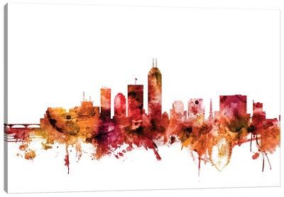 Indianapolis, Indiana Skyline Canvas Art Print
