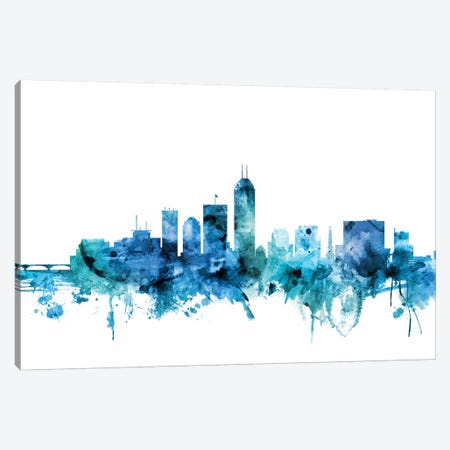 Indianapolis, Indiana Skyline 3-Piece Canvas #MTO1391} by Michael Tompsett Canvas Artwork