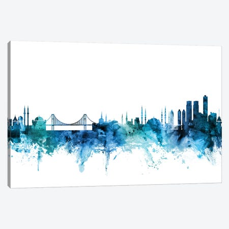 Istanbul, Turkey Skyline Canvas Print #MTO1395} by Michael Tompsett Canvas Print