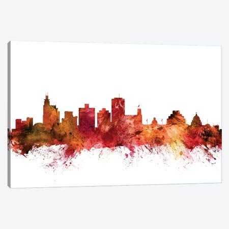 Jackson, Mississippi Skyline Canvas Print #MTO1396} by Michael Tompsett Canvas Print