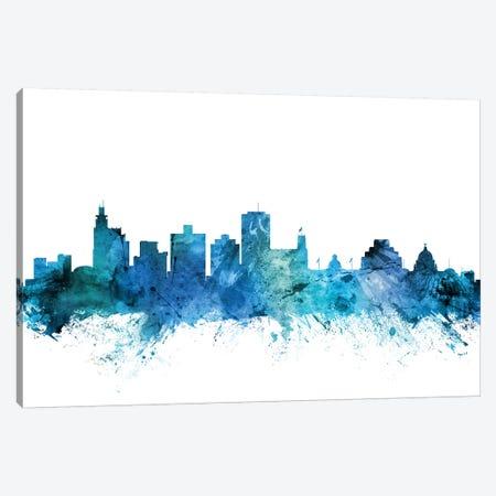 Jackson, Mississippi Skyline Canvas Print #MTO1397} by Michael Tompsett Canvas Art Print