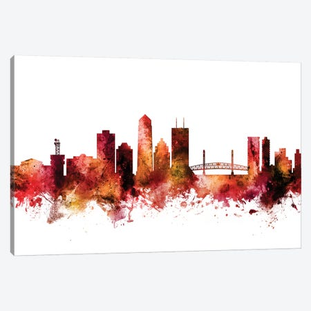 Jacksonville, Florida Skyline Canvas Print #MTO1398} by Michael Tompsett Canvas Wall Art