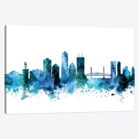 Jacksonville, Florida Skyline Canvas Print #MTO1399} by Michael Tompsett Canvas Art