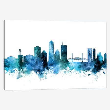 Jacksonville, Florida Skyline Canvas Print #MTO1399} by Michael Tompsett Canvas Art