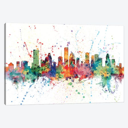 Houston, Texas, USA Canvas Print #MTO139} by Michael Tompsett Art Print