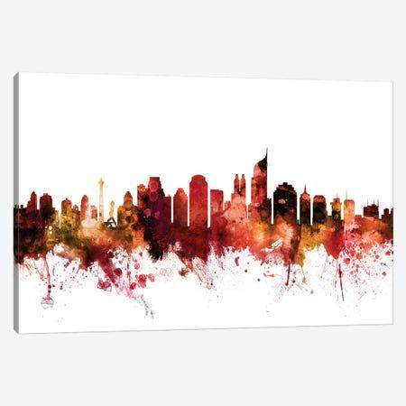 Jakarta, Indonesia Skyline Canvas Print #MTO1400} by Michael Tompsett Canvas Art