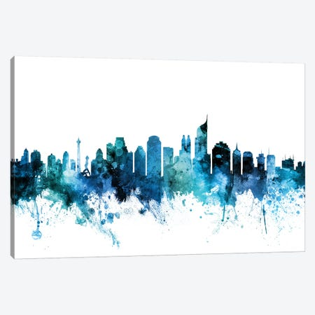 Jakarta, Indonesia Skyline Canvas Print #MTO1401} by Michael Tompsett Canvas Artwork