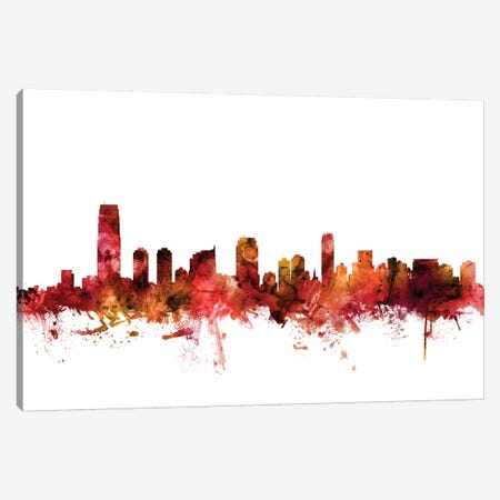 Jersey City, New Jersey Skyline Canvas Print #MTO1402} by Michael Tompsett Canvas Wall Art