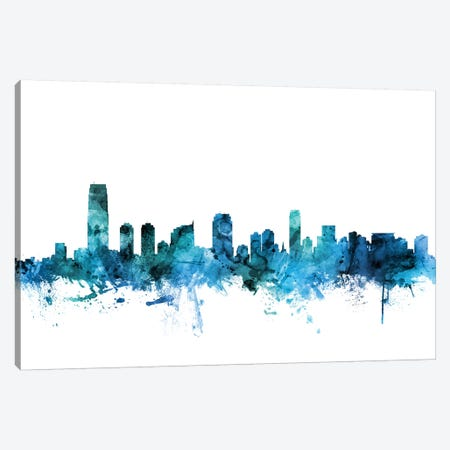 Jersey City, New Jersey Skyline Canvas Print #MTO1403} by Michael Tompsett Canvas Art