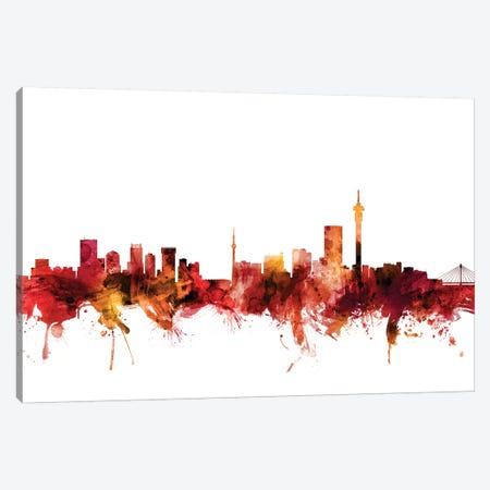 Johannesburg, South Africa Skyline Canvas Print #MTO1404} by Michael Tompsett Art Print