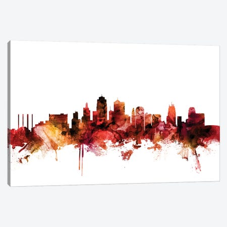 Kansas City, Missouri Skyline Canvas Print #MTO1406} by Michael Tompsett Canvas Art Print