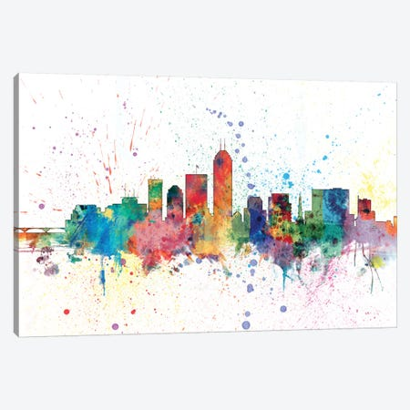 Indianapolis, Indiana, USA Canvas Print #MTO140} by Michael Tompsett Canvas Wall Art