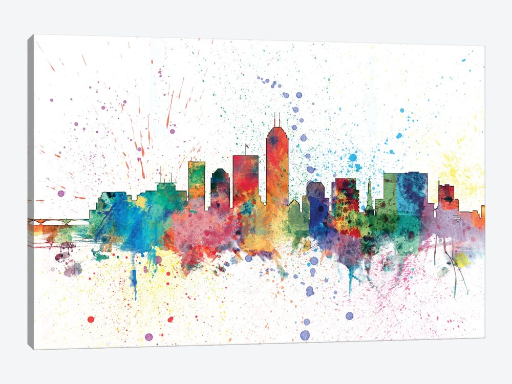 Indianapolis, Indiana, USA by Michael Tompsett 1-piece Canvas Artwork