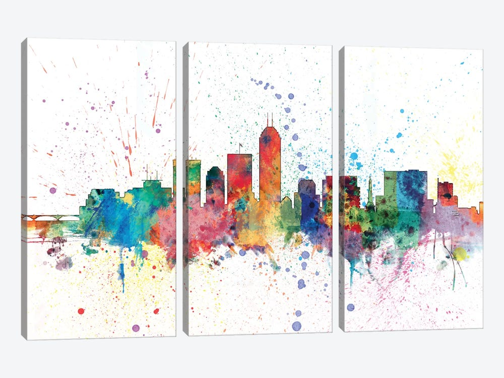 Indianapolis, Indiana, USA by Michael Tompsett 3-piece Canvas Art