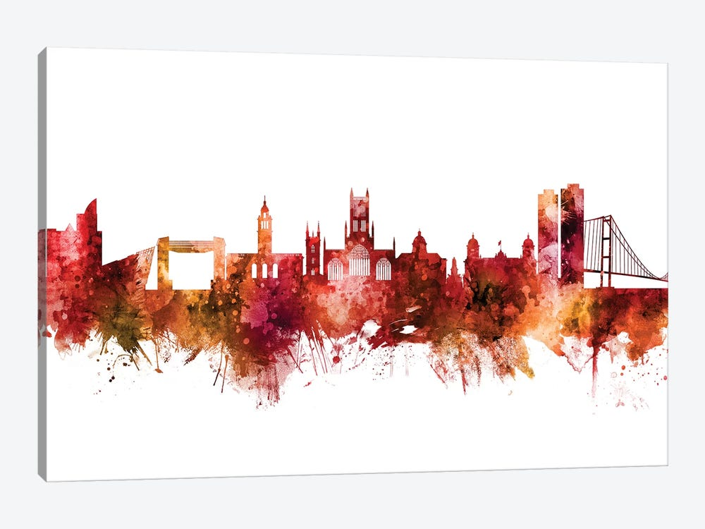 Kingston upon Hull, England Skyline by Michael Tompsett 1-piece Canvas Art