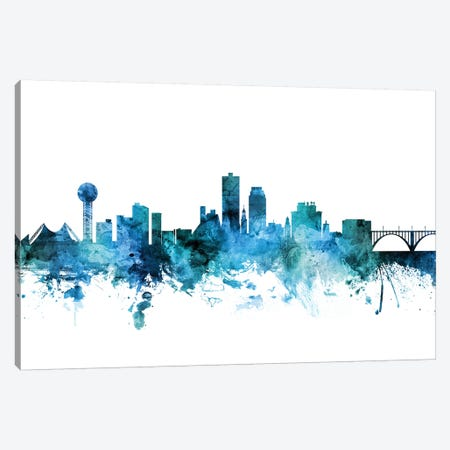 Knoxville, Tennessee Skyline Canvas Print #MTO1412} by Michael Tompsett Canvas Print