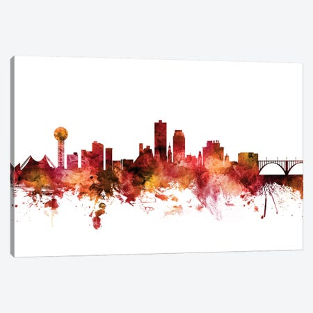 Knoxville, Tennessee Skyline Canvas Print #MTO1413} by Michael Tompsett Canvas Art Print