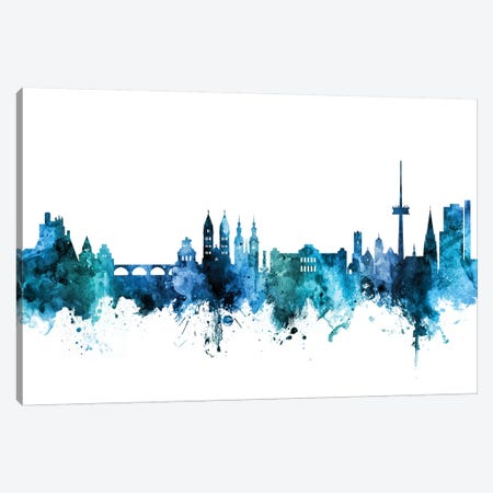 Koblenz, Germany Skyline Canvas Print #MTO1414} by Michael Tompsett Canvas Wall Art