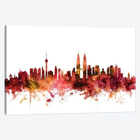 Kuala Lumpur, Malaysia Skyline Canvas Print #MTO1418} by Michael Tompsett Canvas Print