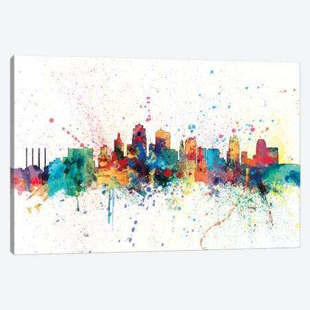 Kansas City, Missouri, USA Canvas Print #MTO141} by Michael Tompsett Canvas Artwork