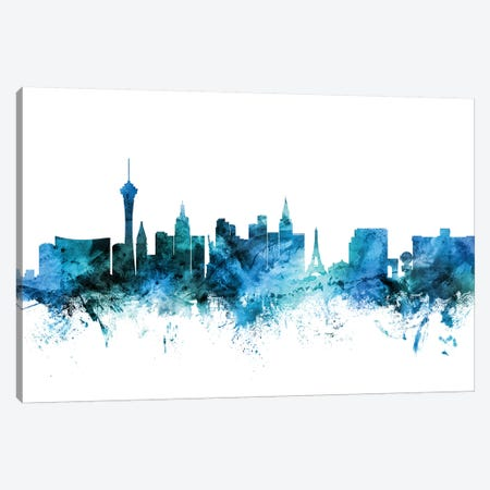 Las Vegas, Nevada Skyline Canvas Print #MTO1422} by Michael Tompsett Canvas Wall Art