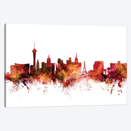Las Vegas, Nevada Skyline Canvas Print #MTO1423} by Michael Tompsett Canvas Wall Art
