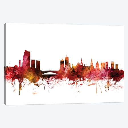 Leeds, England Skyline Canvas Print #MTO1426} by Michael Tompsett Canvas Art Print