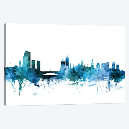 Leeds, England Skyline Canvas Print #MTO1427} by Michael Tompsett Art Print