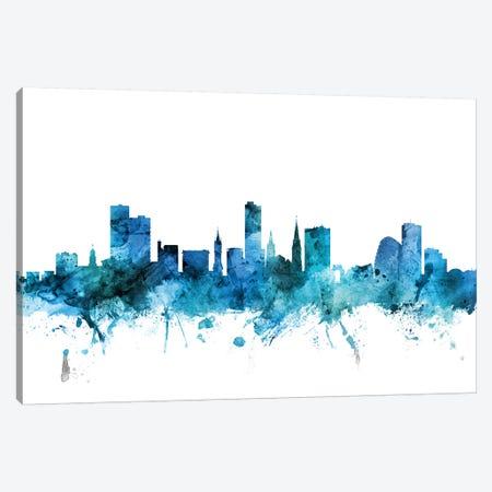 Leicester, England Skyline Canvas Print #MTO1429} by Michael Tompsett Canvas Wall Art