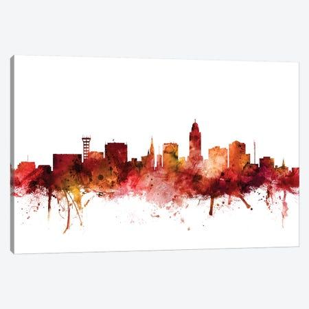 Lincoln, Nebraska Skyline Canvas Print #MTO1436} by Michael Tompsett Canvas Artwork
